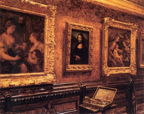 Beroud L Mona Lisa at the Louvre